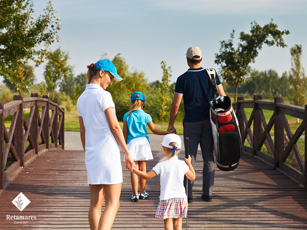 beneficios de jugar al golf en familia golf en Madrid