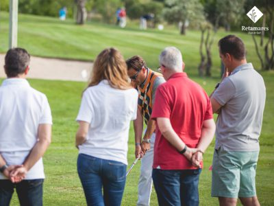 dónde aprender golf en Madrid