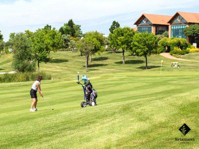 aprender golf en Madrid Retamares golpe de draw
