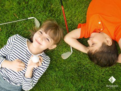 Retamares palos de golf para niños en Madrid